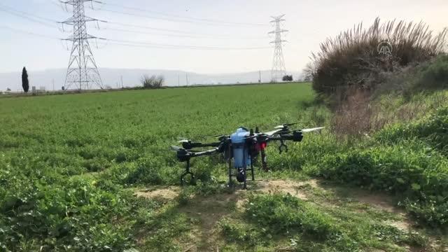 drone ile arazi ilaclama