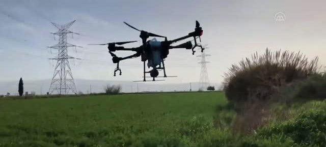 Drone ile tarım arazileri ilaçlama