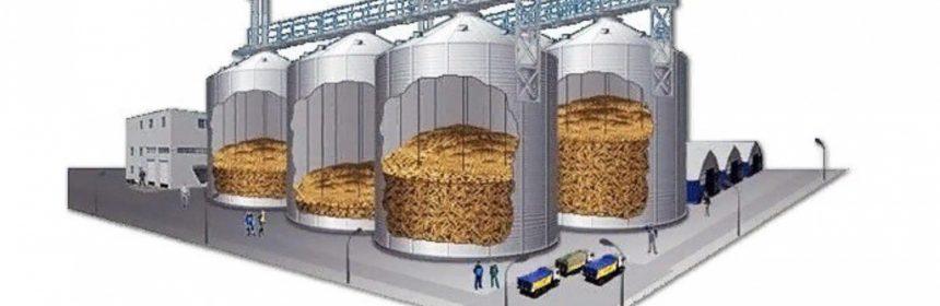 Tarım deposu şema iç yapı silo